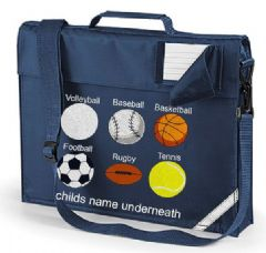 Personalised School Book Bag - VARIOUS BALL SPORTS